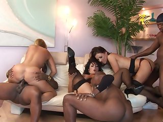 Big crazy interracial lovemaking party