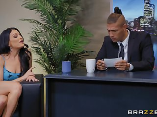 Office fuck and a huge facial for slutty secretary Kissa Sins