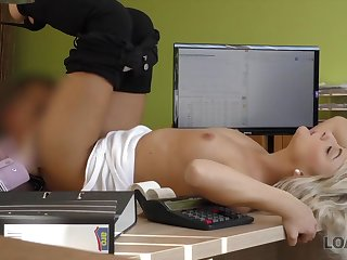LOAN4K. Blond Hair Lady babe needs nothing more than domineering and..