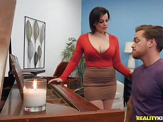 Milf piano teacher fucks pupil in rough scenes