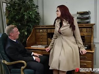 Alessandra Jane added to Emma are having a 3some in their office, for the benefit doing their job