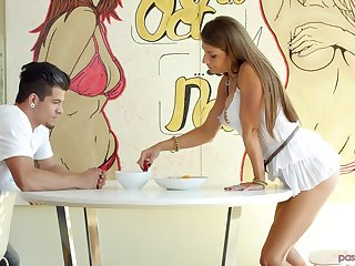Cute Dillion Carter knows from A to Z what a kinky guy wants from her