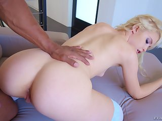 Blonde Chloe Cherry gets her ass and mouth gaped by a big black cock