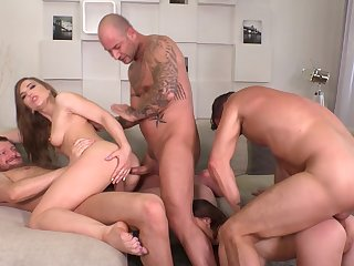 Anal whores banges by three stallions