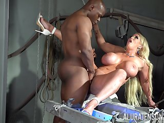 Busty cougar screams of lust with an increment of pleasure with a BBC inside her ass