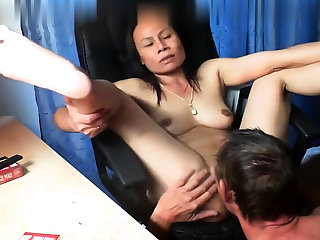 Thai asian milf mature swell up fuck anal