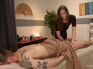 Erotic massage leads supplicant to try shemale sexual relations