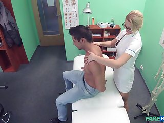 Nurse loves to get fucked on the hospital approach closely by her patient