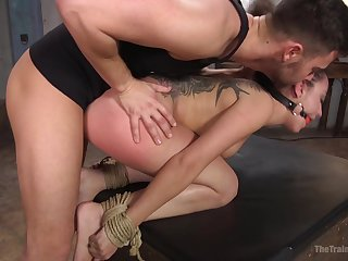Man's merciless dick suits the slave girl with brutal anal
