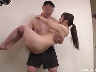 Remarkable Asian babe, with admirable ass, smashing nude sexual connection on cam