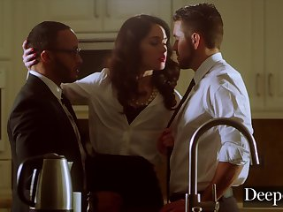 Evelyn's Intense Threesome Lovemaking With Begrudging Coadjutor
