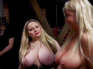Public BDSM occasion beside gorgeous fat bottomed MILFs