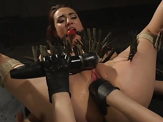 Clamped bitch ass fucked by their way dominant mistress