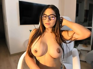 Big-Boobed black-haired says lose concentration she is a junior sista for Mia Khalifa, just a bit hornier