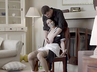 Splendid home hardcore making love for the poor maid