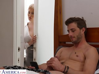 Dude gets caught fapping in his room by his smoking hot stepmom
