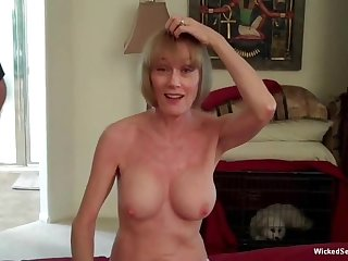 Wicked Blue Melanie is an obstacle hottest amateur granny nigh see for himself