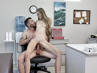 Hardcore workplace indiscretion be expeditious for sultry Kyaa Chimera