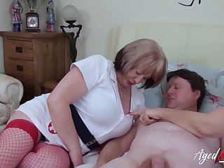 British mature ladies enjoying hardcore trine sex with scalding handy man