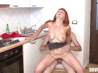 Hardcore fucking in the kitchen motivation a mature and a X smile radiantly