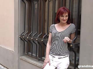 Supreme granny accompany Claudia picks up one young guy on the street
