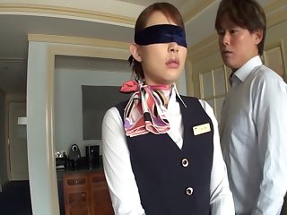 Yu Konishi drops her uniform to strive sex with a stranger - compilation