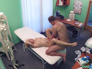 Pollute sees a gorgeous young patient, coupled with soon he was fucking her good