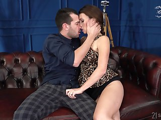 Sexy French bus Tiffany Skirt gives a blowjob and allows with regard to penetrate wet pussy