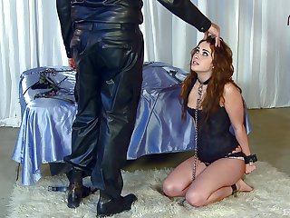 Wife Danika Pierce loves being constrained up and spanked by her man