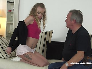 Young student Angel Emily gets intimate alongside sex-starved senior