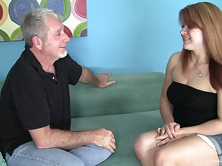 Chubby redhead nympho babbe wants his old baffle dick