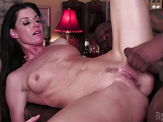Aside interracial threesome fucking with slutty wife India Summer