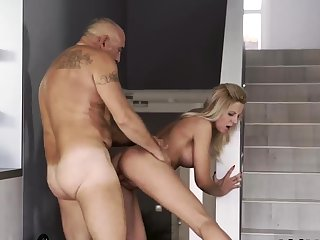Eldritch old guy with the addition of daddy boss's daughter amusement Finally at