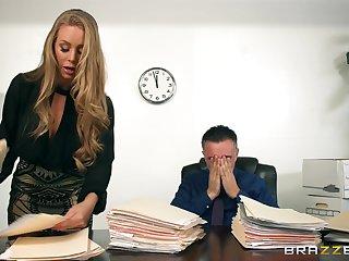 Elegant blonde gets intimate with her Mr Big brass