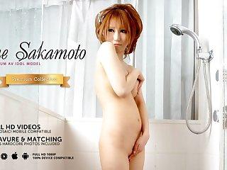 Japanese darling Sae Sakamoto sucks cocks, uncensored